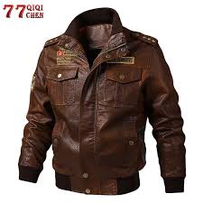 Brand Tactical PU <b>Leather</b> Jacket Men Euro Size S XXL <b>Stand</b> ...