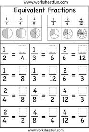Fractions and Equivalent fractions on PinterestThis is a great review worksheet for students after they have learned equivalent fractions. They can use the pie charts above to help them visualize the ...