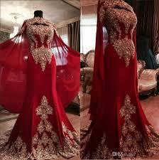 2019 New <b>Luxury Lace Red Arabic</b> Dubai Kaftan Evening Dresses ...