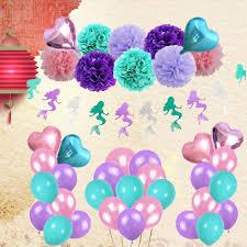 COD! <b>45PCS</b>/<b>Set Mermaid</b> Theme Birthday Party Decoration Set ...