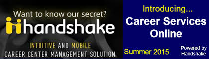Career Services Online powered by Handshake   Career Services