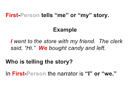narrative essay first person point view   examples of writing in   narrative essay