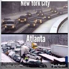 Atlanta the butt of national jokes and memes after snowstorm response via Relatably.com