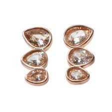 <b>Fashion</b> Rose <b>Gold</b> Diamond Stud Earrings Sale, Price & Reviews ...