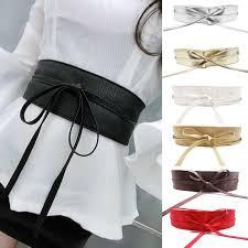 Elegant <b>Soft</b> Faxu Leather <b>Belts</b> Women Sweet Bow Casual Waist ...
