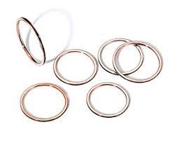 MVCOELDY Jewelry Ring Set Stainless Steel 1MM ... - Amazon.com