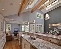 vaulted kitchen ceilings ideas kitchen with vaulted ceiling and skylight contemporary kitchen best lighting for cathedral ceilings