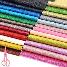 Sntieecr 24 Colors PU Leather Glitter Fabric Sheets ... - Amazon.com