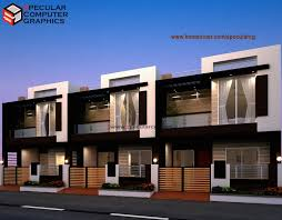 Row House Design by Specular CG   Indian Home design   Free house    Row House Design by Specular CG