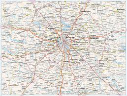 Автомобильная <b>карта Подмосковья</b> - <b>Карта Москвы</b>