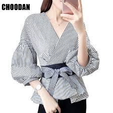 Lantern Sleeve Blouse Shirt <b>Women</b> 2018 <b>Fashion Korean Style</b> ...
