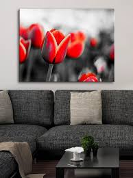 <b>Flower Wall Art</b>: Red Tulips (Wood Frame Ready To Hang) - Sense ...