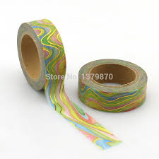 NEW 15mm*10M <b>Foil Washi</b> Tape Watermark <b>Rainbow</b> color High ...