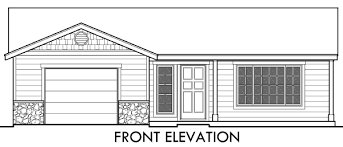 Small Affordable House Plans and Simple House Floor Plans ADU Small House Plan Bedroom  Bathroom  Car Garage