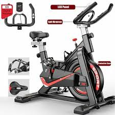 Fnova Spinning Bike Exercise Bike Indoor for <b>Home</b>/<b>Gym</b> Use w ...