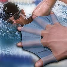 Fins 1Pair <b>Silicone</b> Frog <b>Palm Hand</b> Swimming Fins <b>Hand</b> Webbed ...