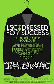 dressed for success lyndon state college dfs flyer 2016