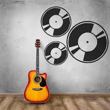 Removable Wall Stickers <b>Music</b> Art Musician Record Wall Decal ...
