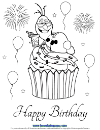 Small Picture Nice Happy Birthday Cupcake Coloring Pages 3933 Happy Birthday