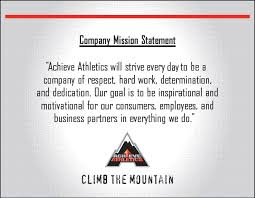 achieve athletics an innovative athletic brand mission statement