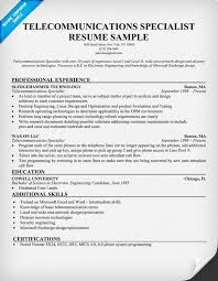 resume for telecommunications sales telecom resume examples