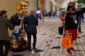 '<b>Golden</b> calf' <b>statue</b> of Donald Trump sparks Biblical ridicule at CPAC ...