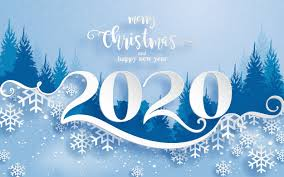 Merry christmas greetings and happy new year 2020 templates with ...
