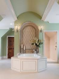 living room carolina design associates: mint green with spa tub the owners wanted their bathtub to be