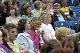 Woman eating fast food at <b>Rod Stewart</b> concert - Rob Watkins ...