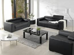 room fabulous contemporary table sets leather  living room engaging black bonded leather elegant modern pc living ro