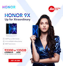 Jio <b>Honor 9X</b> Offer - Get ₹2,200 Cashback & 125GB Data