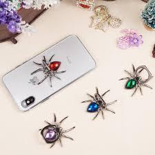 Luxury <b>metal Spider Bling</b> Finger Universal 360 Rotate Phone Stent ...