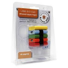 HUB 4-port <b>KONOOS</b> UK-06 <b>USB</b> 2.0 Конструктор - Оптовый ...