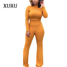 2019 <b>XURU Autumn And</b> Winter Women'S Fashion Sexy Two Piece ...