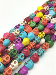 <b>50pcs</b>/<b>lot 8mm</b> Cheap Hot <b>Beads</b> Colorful Skull Natural Stones ...