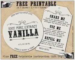FREE Homemade Vanilla Labels Printable & Tags | Diy wedding ...