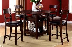 Dining Room Set Counter Height Mahogany And Walnut Dining Room Table With Self Storing Leaves
