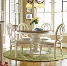 extendable dining table set: shop our country chic  piece round white dining table set for sale at zin home this white round pedestal kitchen table set include an extending round