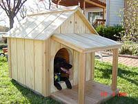 How to make everything  Free Dog House PlansYour basic dog house   covered deck