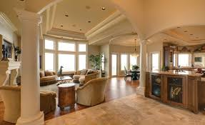 dining room columns trey ceiling a great room with archways tray ceilings and a dome above the circular