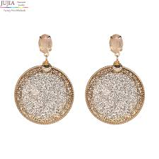JUJIA 6 colors wholesale fashion crystal pendant statement earring ...