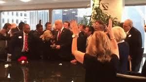 Megachurch televangelists lay hands on Donald Trump, ask Jesus