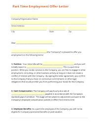 employment offer letter template best business template part time employment offer letter template in employment offer letter template