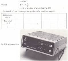 to measure g by use of a millisecond timer physics homework help to measure g by use of a millisecond timer