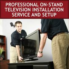 tvs tuner displays professional on stand television installation setup