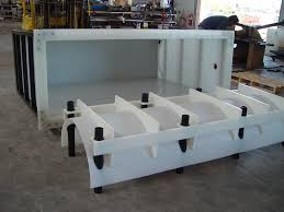 custom steel frame for plastic tank custom plastic fabrication plastic fabricator