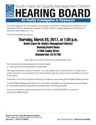 scaqmd hearing board considers changes to aerocraft s order for scaqmd flyer for aerocraft continued hearing