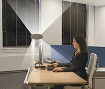 lighting personal workspaces eliminating overhead luminaries and reducing ambient illuminance reduces distraction and supports individual focus work in ceiling ambient lighting