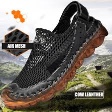 High Quality Upstream Aqua Shoes <b>Men Breathable Air Mesh</b> ...