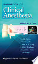 Handbook of Clinical Anesthesia - Google Books